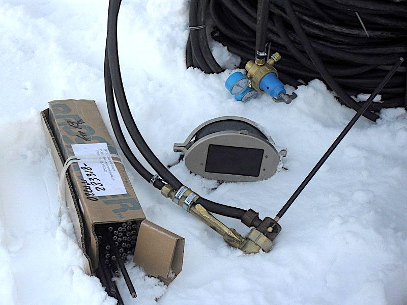 Комплект оборудования для экзотермической резки