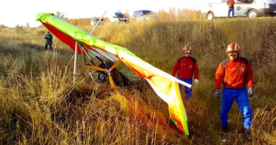 Потерпел крушение моторный дельтаплан