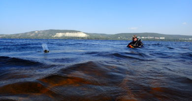 Является ли затопленный объект в русле реки Волга опасным для окружающей среды?