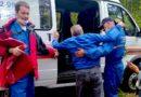 Эвакуация пострадавшего из лесного массива с. Ягодное
