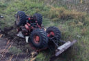 Деблокирование водителя из кабины опрокинутого трактора